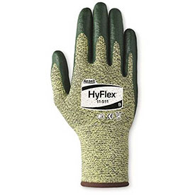 HyFlex® Cut Resistant Gloves, Ansell 11-511, Green Nitrile Palm Coat, Size 7, 1 Pair
