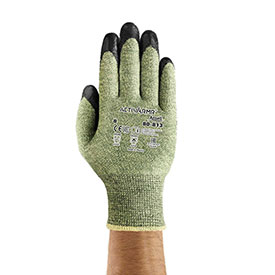 ActivArmr® Cut Resistant Gloves, Ansell 80-813, Foam Coating, Size 10, 1 Pair