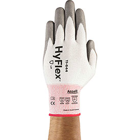 HyFlex® Cut Protection Gloves, Ansell 11-644, Gray Polyurethane Palm Coat, Size 10, 1 Pair