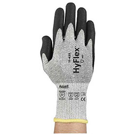 HyFlex Polyurethane Coated Cut Resistant Gloves, Ansell 11-435, PU Palm Coat, Size 7, 1... by