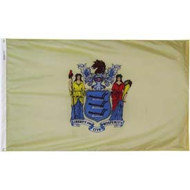 3X5 Ft. 100% Nylon New Jersey State Flag