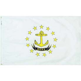 4X6 Ft. 100% Nylon Rhode Island State Flag