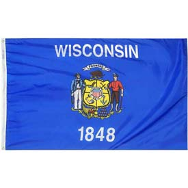 3X5 Ft. 100% Nylon Wisconsin State Flag