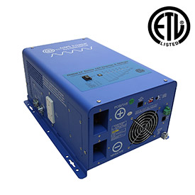Click here to buy AIMS Power 1000 Watt Pure Sine Inverter Charger, PICOGLF10W12V120VR.