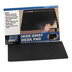 Rhinolin Desk Pad with Privacy Cover, 20 x 31, Black
