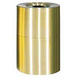 Rubbermaid AOT62SB Atrium® Aluminum Container, Open Top 62 Gallon - Satin Brass