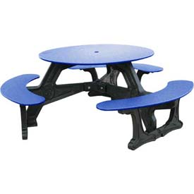 Polly Products Bodega Table, Blue Top/Black Frame