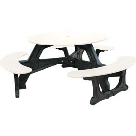 Polly Products Bodega Table, White Top/Black Frame
