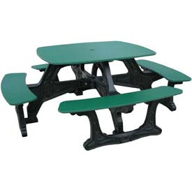Polly Products Bistro Table, Green Top/Black Frame