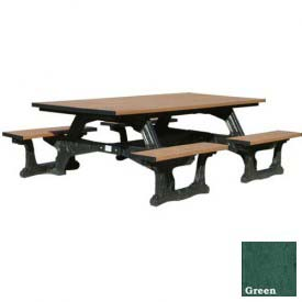 Polly Products Commons Table ADA Compliant, Green Top/Black Frame