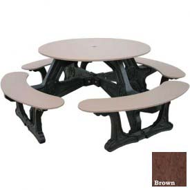 Polly Products Cantina Table, Brown Top/Black Frame