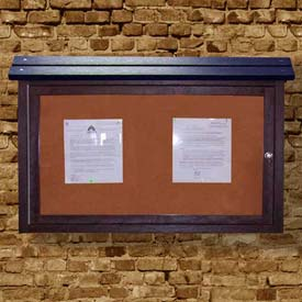 "Polly Products Medium Message Center - 1 Sided/No Post, Brown, 40""W x 30""H"