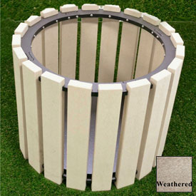 """Polly Products 26"""" Diameter Round Planter, Weathered"""