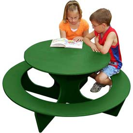 Polly Products Round Activity Table, Green Top/Green Frame