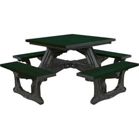 Polly Products Town Square Table, Green Top/Black Frame