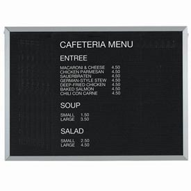"""Aarco Aluminum Framed Letter Board Message Center 48""""W x 36""""H by"""
