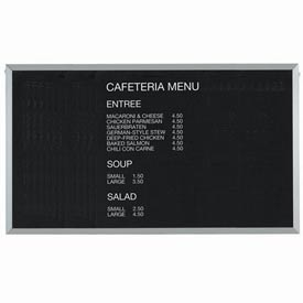 """Aarco Aluminum Framed Letter Board Message Center 60""""W x 36""""H by"""