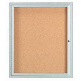 "Aarco 1 Door Framed Enclosed Bulletin Board - 30""W x 36""H"