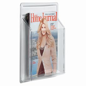 "Clear-Vu Magazine And Literature Display-1 Magazine Pocket - 11""W x 14""H"