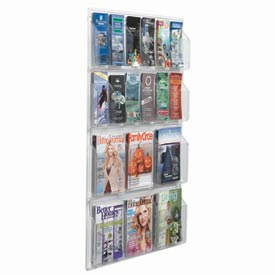 "Clear-Vu Combination Pamphlet/Magazine Display - 30""W x 45""H"