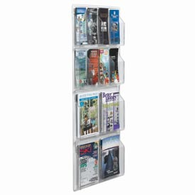 "Clear-Vu Combination Pamphlet/Magazine Display - 21""W x 45""H"