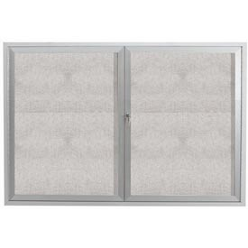 "Aarco 2 Door Aluminum Framed Enclosed Bulletin Board - 48""W x 36""H"
