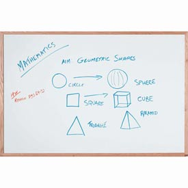 "Aarco Display Style White Marker Board - 36""W x 24""H"