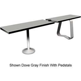 "24"" x 48"" Phenolic Locker Bench Top Silver Gray"