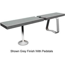"12"" x 48"" Solid Plastic Locker Bench Top Charcoal"