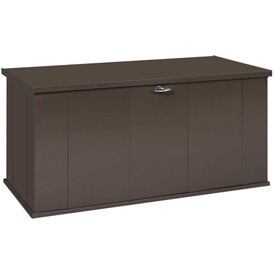 "Arrow Shed Storboss Storage Chest and Deck Box, 30""L x 57-5/8""W x 27-5/8""H, Chocolate"