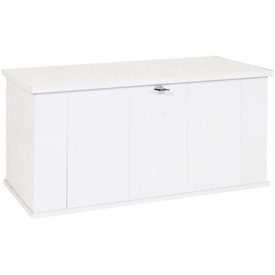 "Arrow Shed Storboss Storage Chest and Deck Box, 30""L x 57-5/8""W x 27-5/8""H, Marine White"