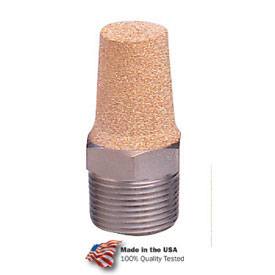 "Arrow Breather Vent ASP-3, Sintered Bronze, 3/8"" NPT, 300 PSI - Pkg Qty 10"