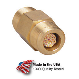 "Arrow In-Line Nipple Filter Asp3104-40, Sintered Bronze, 1/2"" Npt, 300 Psi - Min Qty 3"