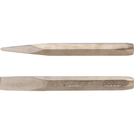 "Click here to buy AMPCO C-21 Non-Sparking Chisel Non-Sparking Hand, 7/8"", 12"" OAL Package Count 2."