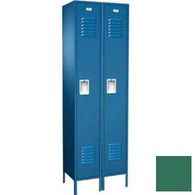 "Traditional Single Tier Locker, 2 Wide, 12""W X 15""D X 60""H, Assembled, Mist Green"