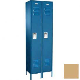 "Traditional Single Tier Locker, 3 Wide, 12""W X 15""D X 72""H, Assembled, Almond"