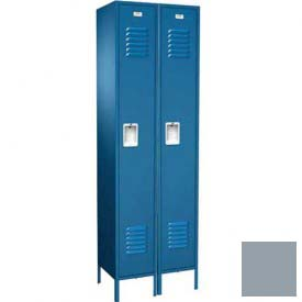 "Traditional Single Tier Locker, 3 Wide, 12""W X 15""D X 72""H, Assembled, Gray"