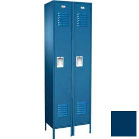 "Traditional Single Tier Locker, 2 Wide, 12""W X 15""D X 72""H, Assembled, Blue Frost"