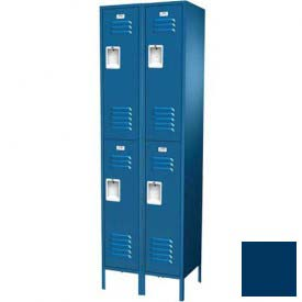 "Traditional Double Tier Locker, 2 Wide, 18""W X 18""D X 36""H, Assembled, Blue Frost"