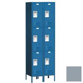 "Traditional Three Tier Locker, 3 Wide, 12""W X 15""D X 20""H, Assembled, Gray"