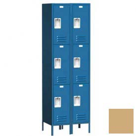 "Traditional Three Tier Locker, 2 Wide, 12""W X 15""D X 24""H, Assembled, Almond"