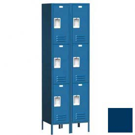 "Traditional Three Tier Locker, 3 Wide, 12""W X 18""D X 24""H, Assembled, Blue Frost"