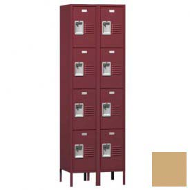 "Traditional Four Tier Locker, 2 Wide, 12""W X 12""D X 15""H, Assembled, Almond"