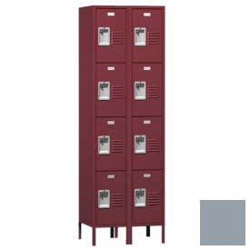 "Traditional Four Tier Locker, 2 Wide, 12""W X 15""D X 18""H, Assembled, Gray"