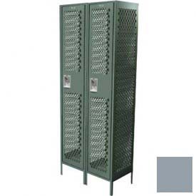 """Competitor Ventilated Single Tier Locker, 3 Wide, 12""""W X 12""""D X 72""""H, Assembled, Gray"""