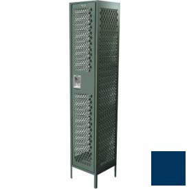 "Competitor Ventilated Single Tier Locker, Starter,1 Wide,18""W X 18""D X 72""H,Unassmebled, Blue Frost"
