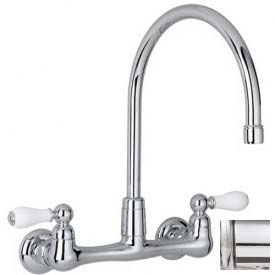 "American Standard® Heritage Wall Mount Kitchen Faucet, 7293.252.002, 2.2 GPM, 12-1/2""H, Chrome"