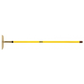 "AMPCO® H-103FG Non-Sparking Straight Blade Garden/Mixing Hoe W/ Fiberglass Handle 11-1/2x55""L"