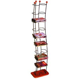 Atlantic® Wave 74 DVDs Tower Black With Cherry Wood