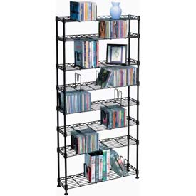 Atlantic® Maxsteel 8 Tier Multimedia Rack For 440 CDs or 228 DVDs and Blu-Ray